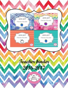 Teacher binder editable 2016 - 2017