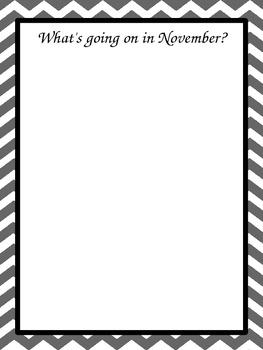 Chevron Teacher binder planner printables