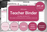 Teacher binder, printable. Teacher school year. Teacher planner.
