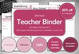 Teacher binder, printable. Teacher school year. Teacher planner.