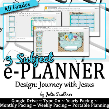 Teacher e-Planner Calendar for Secondary Teachers with Multiple Preps, Journey