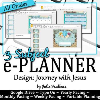 Digital Teacher Binder for Secondary with Multiple Preps, Journey