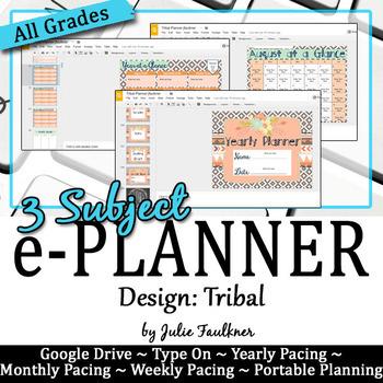 Digital Teacher Binder for Secondary with Multiple Preps, Tribal