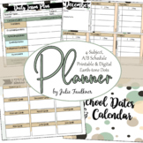 Digital Teacher Planner for High School with A/B Blocks or 4 Preps, Dots