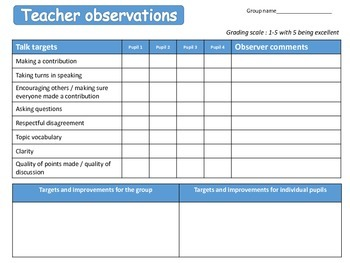 Teacher feedback and assessment for supporting talk and accountable talk