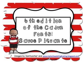 Teacher font from Cajun fonts-Sauce Piquante