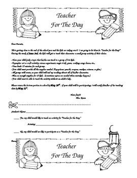 Teacher for a Day
