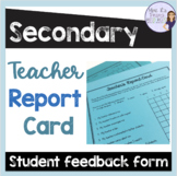 Teacher grade card/ Student evaluations of teacher