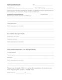 Teacher input form for upcoming IEP meeting
