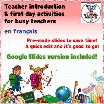 Rentrée Teacher Introduction Ppt Template In French And