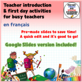 RENTRÉE - Teacher introduction PPT template in French and more!