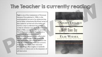 """Teacher is Reading"" sign (customizable)"