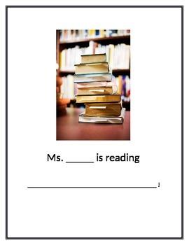 Teacher is reading sign