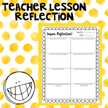 Teacher lesson reflection