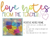 Teacher love notes - Student certificates - positive notes home