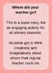 Teacher missing writing activity