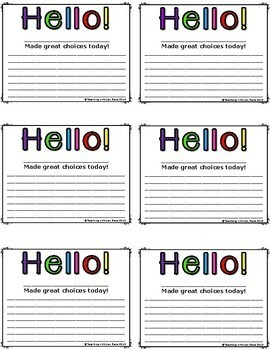 Tiny Teacher Notes {includes blanks!} for Parent Communication