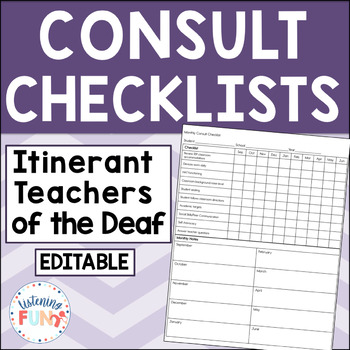 Teacher of the Deaf Monthly Consult Checklist