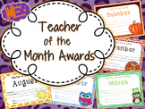Teacher of the Month Awards (August - June)