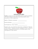 Teacher of the Month Nomination Form