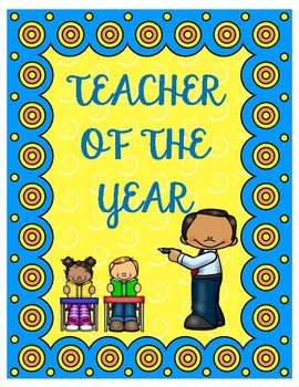 Teacher of the Year Printable Poster