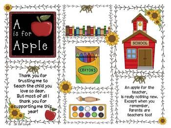 Teacher or Parent Editable Gift Template!