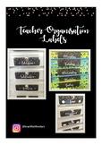 Confetti Themed Teacher Organisation Labels