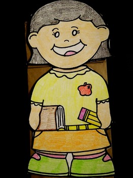 Teacher paper bag puppet