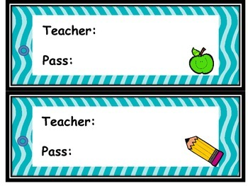 Teacher pass