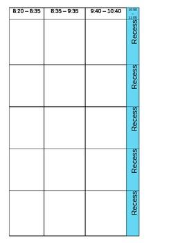 Teacher plan book template by Miss Sharp | Teachers Pay Teachers