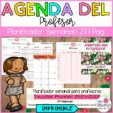 Teacher planner 2018-2019 Editable/ Agenda del profesor 2018-2019