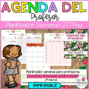 Teacher Planner 2019 2020 Editable Agenda Del Profesor 2019 2020