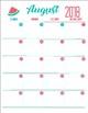 Teacher planner 2018 - 2019 (Watermelon calendar)