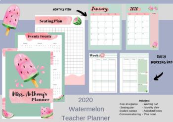 2020 Teacher planner teacher planner editable teacher planner