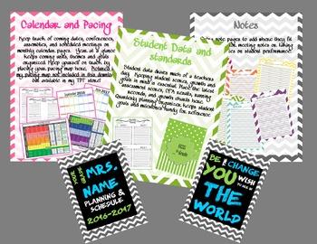 Teacher planner and schedule organizer