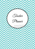 Teacher planner printable EDITABLE classroom organizer, diary, lesson plans etc