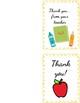 Teacher printable blank thank you cards