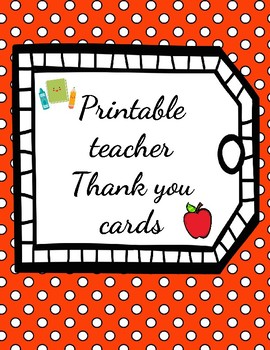 photo regarding Fill in the Blank Thank You Cards Printable named Instructor printable blank thank by yourself playing cards
