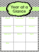 Teacher resource binder in black and green