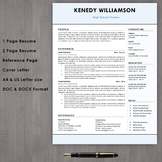 Teacher resume template download with cover letter in Micr