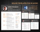 Teacher resume template for Word (docx)
