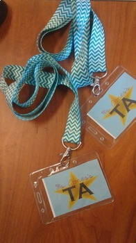 Teacher's Assistant (TA) Badge Inserts- Peer Feedback Strategy