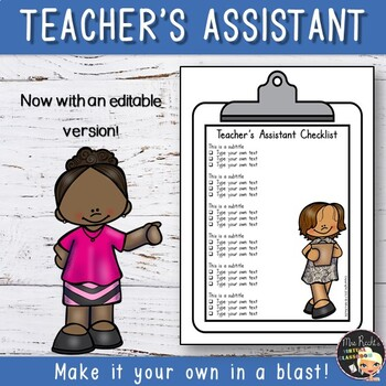 Teacher's Assistant Badge and Checklist