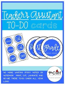 Teacher's Assistant Reusable To-Do Cards