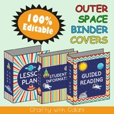 Teacher's Binder Cover in Outer Space Theme - 100% Editable