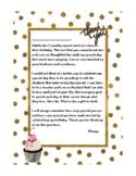 Teacher's Birthday - Thank You Letter