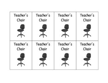 Teacher's Chair Reward Coupons