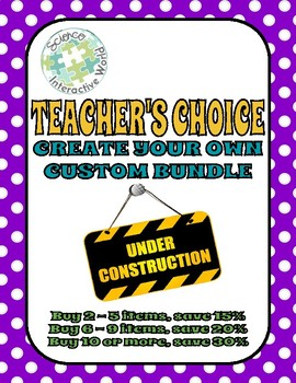 Teacher's Choice!! Build Your Own Custom Bundle