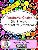 Teacher's Choice Editable Interactive Sight Word Notebook