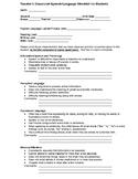 Classroom Speech Language Checklist